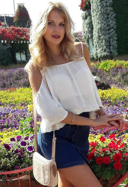 blond Russian girl from city Moscow Russia
