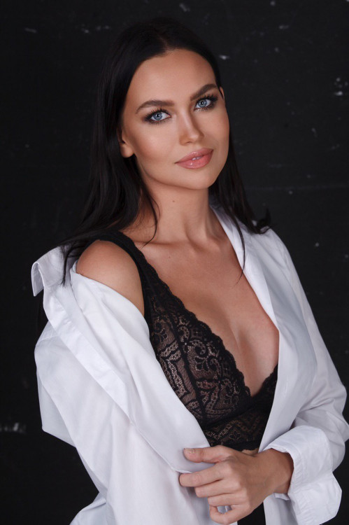 positive Russian lass from city Moscow Russia